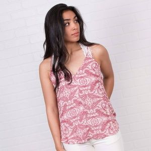 Red Paisley Tank